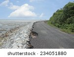 Road To The Sea Erosion.