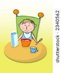 child having a breakfast  ... | Shutterstock . vector #2340562