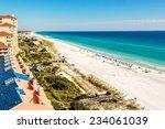 long stretch of miramar beach ... | Shutterstock . vector #234061039