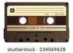 black music casette  cassette... | Shutterstock .eps vector #234069628
