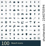 beach icons vector set | Shutterstock .eps vector #234070594