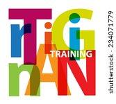 vector training. broken text | Shutterstock .eps vector #234071779