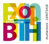 vector exhibition. broken text | Shutterstock .eps vector #234072418