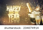 new year card design  | Shutterstock . vector #234074914