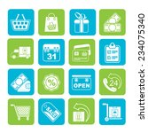 silhouette online shop icons  ... | Shutterstock .eps vector #234075340