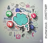 social networking collage with... | Shutterstock .eps vector #234077689