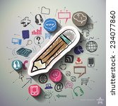 electronic commerce collage...   Shutterstock .eps vector #234077860