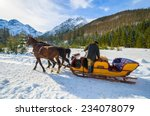 Horse Sleigh Carriage To...