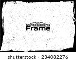 grunge frame   abstract texture.... | Shutterstock .eps vector #234082276