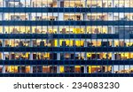skyscraper windows  | Shutterstock . vector #234083230