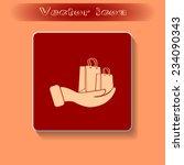 vector illustration of shopping ... | Shutterstock .eps vector #234090343