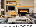 furnished living room in luxury ... | Shutterstock . vector #234090589