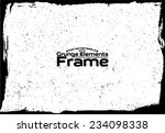grunge frame   abstract texture.... | Shutterstock .eps vector #234098338
