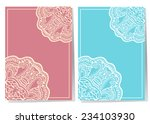wedding invitation cards set... | Shutterstock .eps vector #234103930