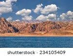 red rocks on eastern sinai near ... | Shutterstock . vector #234105409
