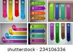 colorful modern arrow text box... | Shutterstock .eps vector #234106336