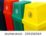 Colorful Plastic Recycle Bin...