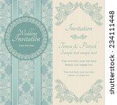 antique baroque wedding... | Shutterstock .eps vector #234111448