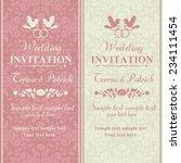 antique baroque wedding... | Shutterstock .eps vector #234111454