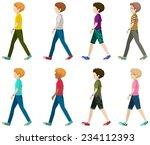 faceless gentlemen on a white... | Shutterstock .eps vector #234112393