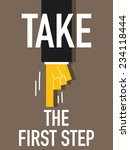 word take the first step | Shutterstock .eps vector #234118444