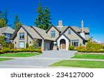 big custom made luxury house... | Shutterstock . vector #234127000