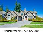 big custom made luxury house...   Shutterstock . vector #234127000