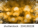 gold christmas background | Shutterstock . vector #234130228