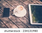 Cup Of Coffe Tablet And Smart...