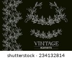 vector laurel wreath. vector... | Shutterstock .eps vector #234132814