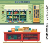 bookstore. books  science ... | Shutterstock .eps vector #234139324