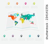map info graphic. vector... | Shutterstock .eps vector #234141556