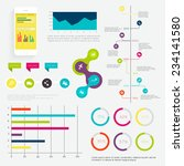set of timeline infographic... | Shutterstock .eps vector #234141580