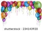 balloons frame   Shutterstock .eps vector #234143920