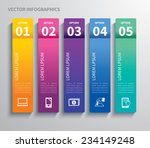paper tab infographic | Shutterstock .eps vector #234149248
