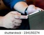 business man's using tablet | Shutterstock . vector #234150274