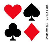 set of playing card suits... | Shutterstock .eps vector #234151186