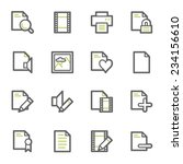 document web icons set | Shutterstock .eps vector #234156610
