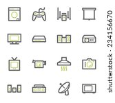 home appliance web icons set | Shutterstock .eps vector #234156670