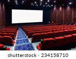 empty movie theater with red... | Shutterstock . vector #234158710
