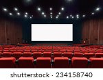 empty movie theater with red... | Shutterstock . vector #234158740