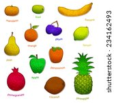 fruit set with texture  simple  ... | Shutterstock .eps vector #234162493