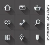 set of website menu icons. flat ... | Shutterstock .eps vector #234165349
