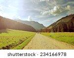 Virtage Photo Of Mountain Road