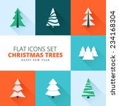 christmas trees collection. set ...   Shutterstock .eps vector #234168304