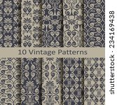 set of ten vintage patterns | Shutterstock .eps vector #234169438