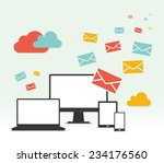 concept email marketing design | Shutterstock .eps vector #234176560