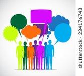 people colorful speech bubbles | Shutterstock .eps vector #234176743