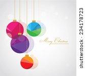retro trendy multicolored... | Shutterstock .eps vector #234178723