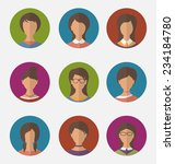 illustration set colorful... | Shutterstock .eps vector #234184780